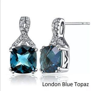 18K Gold LONDON BLUE TOPAZ EARRINGS